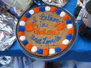 You hear many references to the Auburn Creed, even on cookie cakes.