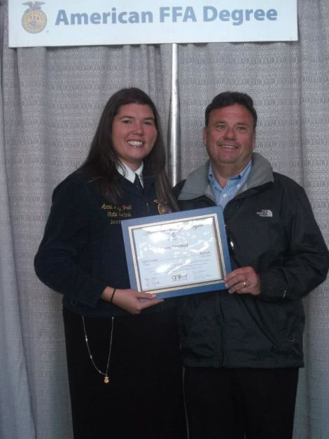 My parents were so supportive of me throughout my time as an FFA member, but my dad I am especially grateful for as he was the one who inspired me to join.