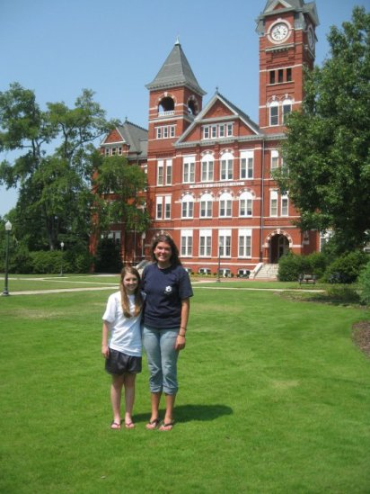 Here I am pictured with my best friend Lauren after our freshman oreientation at Auburn (Camp War Eagle). This was our last of many visits before we officially became Auburn students.