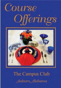 Auburn campus club cookbook Course Offerings